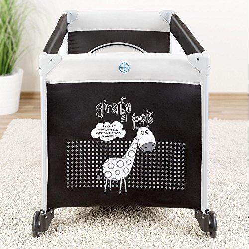Fillikid Baby Reisebett Giraffe - klappbar, mit Rollen, Matratze, Transporttasche und seitlichem Einstieg - 2