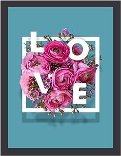 INOV L O V E 30x40cm 絵画 インテリア 額入り・Mサイズ 玄関に飾る絵画 風水 壁掛け 絵 リビング アートポスター 病院 店舗 開運 壁飾り