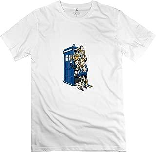 Jiuzhou Men's Tshirts Doctor Who White