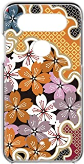 LG V20 PRO L-01J 用 スマホケース ハードケース 和柄 桜・オレンジ 和風 花柄 着物風 エルジー ブイトゥエンティ プロ docomo スマホカバー 携帯ケース 携帯カバー FFANY wazakura_00r_h145@05