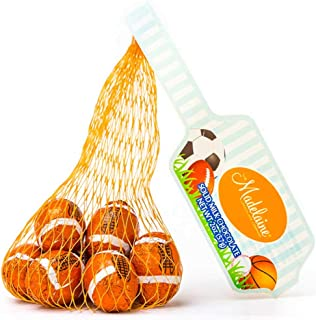 Madelaine Solid Milk Chocolate Footballs Wrapped In Italian Foil - 4 Mesh Bags