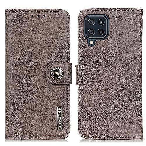tanxinxing Para Samsung Galaxy M32 Funda Protectora Premium PU Funda de Billetera de Cuero Folio Flip Flip Funda con Soporte de Tarjeta Slots Cierre magnético Caja del teléfono de Cuero