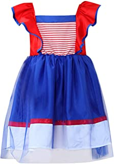 jin&Co Toddler Kids Girls Cute Formal Dress Halloween Costume Princess Dresses Outfits Dress Up Party Carnival Blue