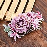 WenJiaShanGDSH Tocados de Novia Flower Peine Bridal Tocado H
