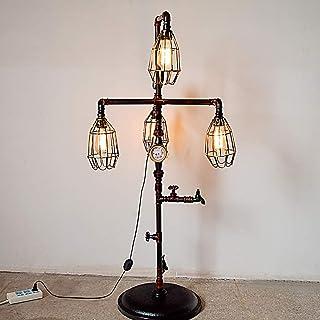 LOFT Lampadaire Chambre à Coucher Salon Lampe Standard Art de Fer Rétro Tuyau d'eau Luminaires de Sol