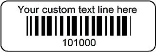 1000 Serial Number Bar Code Poly Plastic Labels 1-1/2
