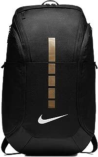 Hoops Elite Pro Basketball Backpack,Black/Metallic Gold,One Size