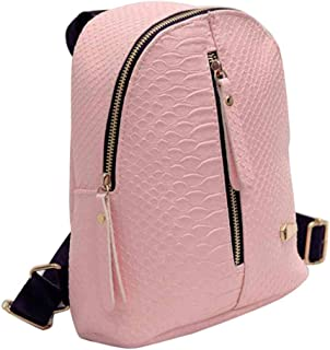 Outsta Travel Shoulder Bag,Women Leather Backpacks Schoolbags Lightweight Classic Basic Water Resistant Backpack School Bag