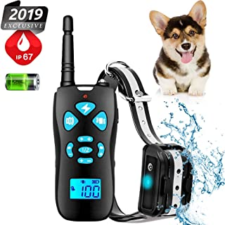 Shock Collar for Dogs,Dog Shock Collar with Remote for 400 yards Range,3 Training Modes,Beep,Vibration and Shock,100% Waterproof Dog Training Collar for All Size Dogs