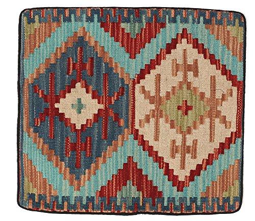 WR Home Decore Tapis Kilim Authentique Fait Main Housses de Coussin, 45cmx45 cm (193b), Guide de Cadeau de Noël et Nouvel an