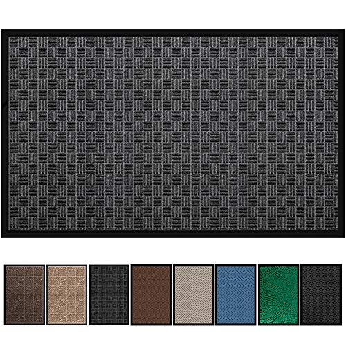 Amagabeli Large Outdoor Door Mats Rubber Shoes Scraper 36