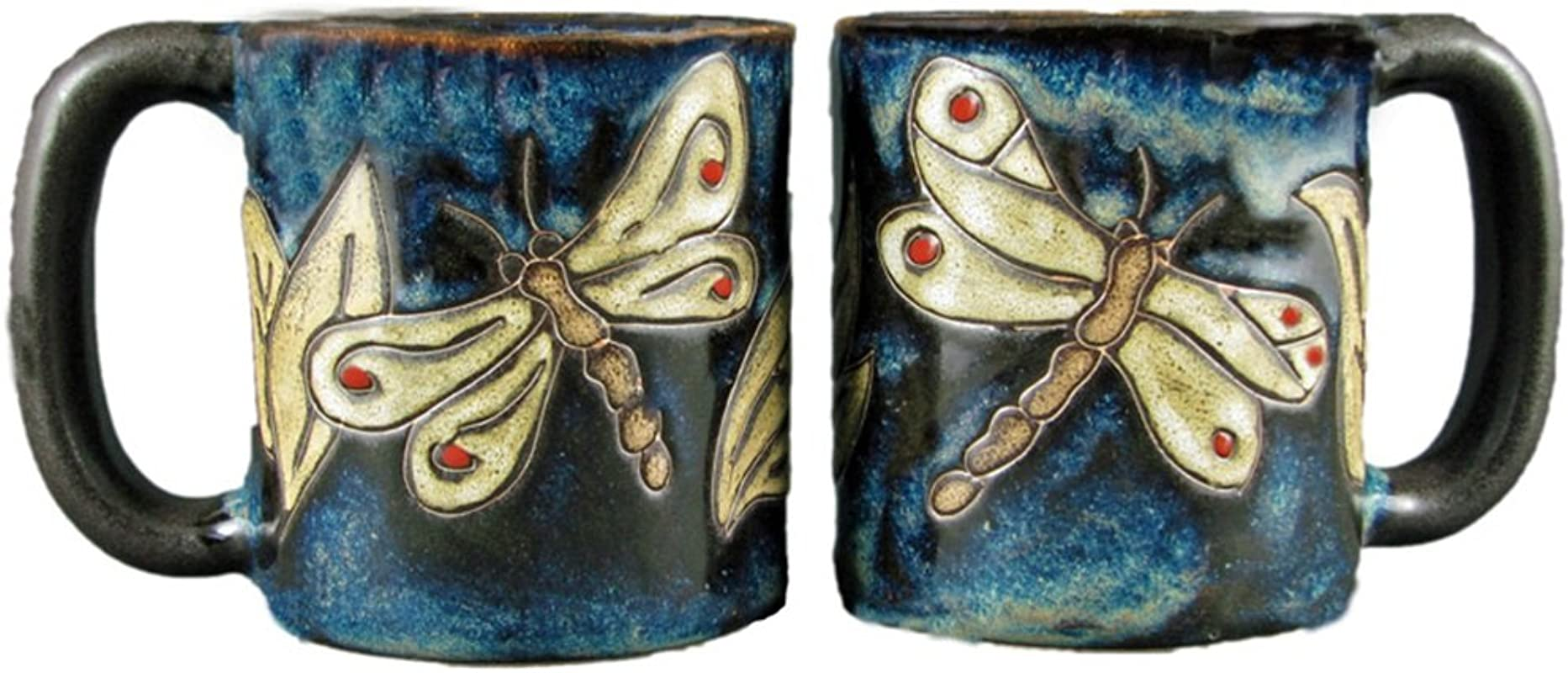 Mara Stoneware Mug Dragonfly 16 Oz Set Of 2 Mugs