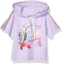 JoJo Siwa Girls' Big Glitter Everywhere Pull Over Skimmer Hoodie Tee with Taping