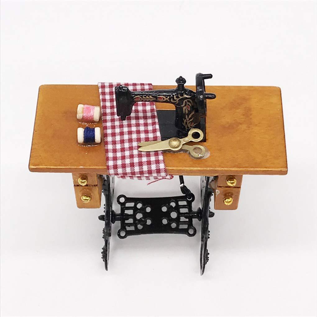 Ben-gi Uno y Doce Dollhouse Atura Máquina de Coser con Hilo de Tela Tijeras Scaled Dollhouse Accesorios: Amazon.es: Hogar