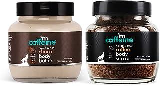 mCaffeine Body Polishing Kit | Deep Moisturizing, Tan Removal | Body Scrub, Body Butter | All Skin | Paraben & Mineral Oil...