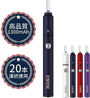 電子タバコ 互換機 加熱式 中高温連続23本 自動清掃 3ヶ月交換サービス USB充電式 日本語取扱説明書付き(ネイビー)