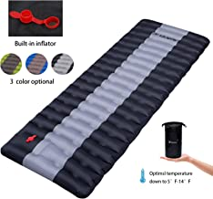 YSXHW Self Inflating Camping Pads Thick 4.7 Inch Lightweight Camping Sleeping Pad Ultralight,Compact, Waterproof PVC Infla...