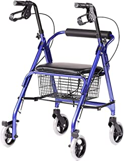 Silla de ruedas Rampas Andador Cesta De La Compra Muleta Carro Viejo Carrito Plegable con Freno