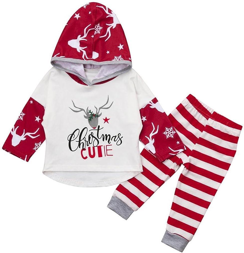 Baywell Baby Jungen M/ädchen Strampler Overall Baby Weihnachten Kleidung Set Roten Neugeborene Jumpsuit Unisex Winterjacke Onesie