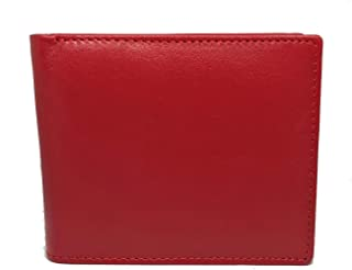 YDM Genuine Leather Premium Quality Men's Wallet (Red)