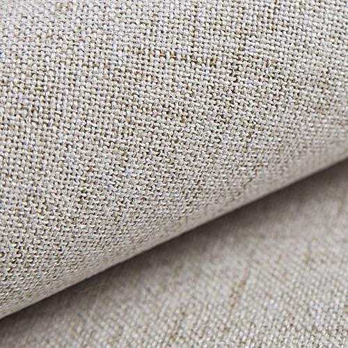 NOVELY® AUEN Premium Möbelstoff | Webstoff | fein gewebter Polsterstoff | Meterware | Bezugsstoff | 1 lfm | 23 Farben (01 Creme)