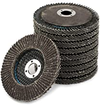 Flap Disc Grinding Wheel Aluminum Oxide Sanding Disc For Angle Grinder 4 inch 10-Pack (120#)