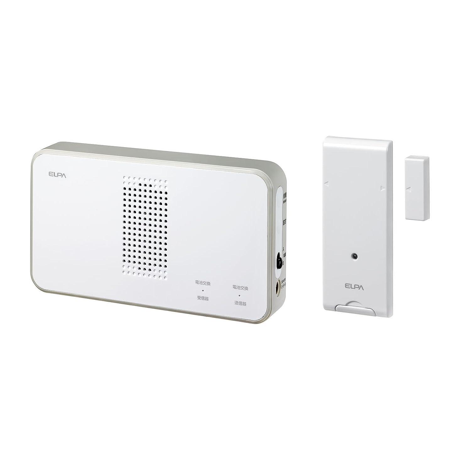 システム感謝真面目なELPA ワイヤレスチャイムドア開閉センサーセット ホワイト 21×25×3cm EWS-S5034