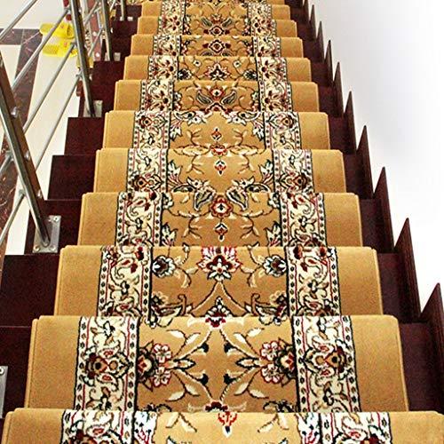 ZEQUAN Antideslizante for alfombras de escaleras (10 Piezas), Peony Oriental del Estilo Tradicional, Antideslizante, fácil de Limpiar (65/75 / 80X24cm) (Size : 80 * 24cm)
