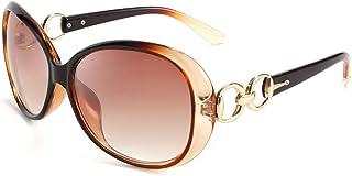نظارات شمسية بيضاوية أنيقة للنساء من FEISEDY Retro مقاس كبير للحماية من الأشعة فوق البنفسجية B2601