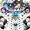 風船 誕生日 飾り付け 3D 宇宙テーマ 宇宙飛行士 パーティー風船 セット(99点セット)Happy Birthday バルーン パーティー 装飾 空気入れ ポンプ女の子と男の子のための宇宙バルーン誕生日装飾セット 子供用ラテックス可愛い お祝い(宇宙飛行士)
