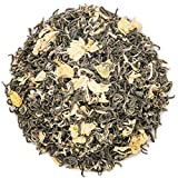Oriarm 250g / 8.82oz Bi Tan Piao Xue Té Verde Jazmín Loose Leaf - Chinese Mao Feng Green Tea with Jasmine Flowers - Yuqian 1st Grade - Brew Hot or Iced Tea