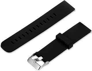 Lancardo Cintura Cinturino Intelligente Silicone Alta Qualità Nero 22mm Larghezza