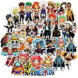 ONE Piece Anime Stickers, 50pcs Waterproof Vinyl Anime Decals for Water Bottle Laptop Car Bicycle Luggage Skateboard Computer, Gift for Teen Girls