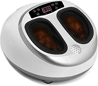 Foot Massager Shiatsu Kneading Foot Massager Massage Machine with Heat for Home White