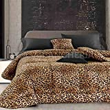 GFFerrari Trapunta Matrimoniale Velvet Leopard-Leopardato