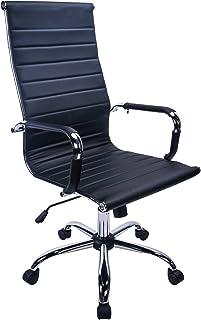 Exofcer PU Bureaustoel Ergonomische Bureaustoel Computerstoel in hoogte verstelbaar Kantoor Stoel Zwart