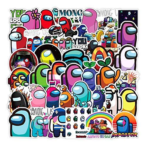 50pcs / pack Entre Nosotros Juego caliente Lable Graffiti Pegatinas for el...