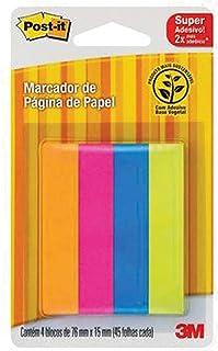 Marcador de Página Adesivo Reposicionável 4 Cores 180 Folhas, Post-it