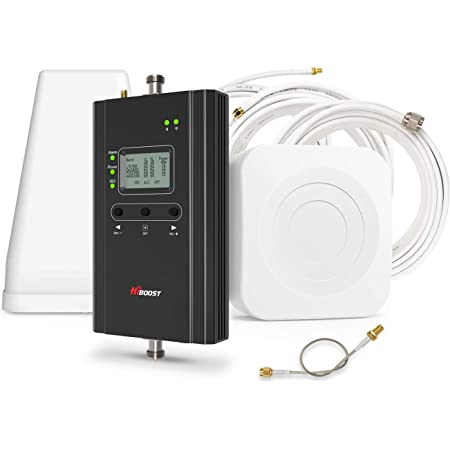 HiBoost Cell Phone Signal Booster for Home, Up to 4,000 sq ft, Support All US Carriers-Verizon, AT&T, T-Mobile, Sprint, Amplifier Kit with APP and LCD
