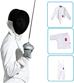 Traje De Esgrima- Espada, Sable, Chaqueta/Chaqueta/Pantalones De Chapa De Aluminio, Equipo De Esgrima Profesional/Esgrima para Adultos/Esgrima para Niños
