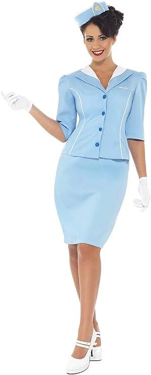 60s Costumes: Hippie, Go Go Dancer, Flower Child, Mod Style Smiffys womens Air Hostess Costume  AT vintagedancer.com
