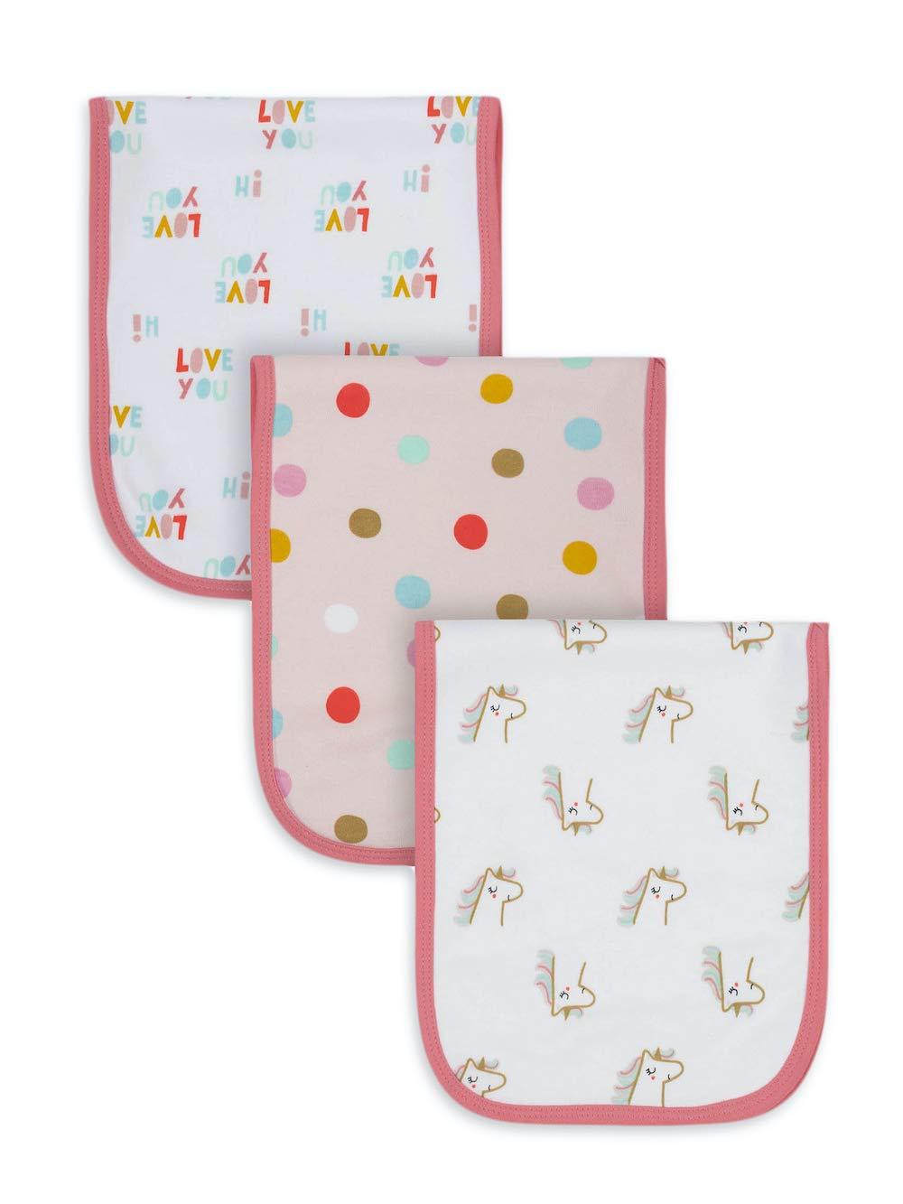 Gerber Organic Cotton Baby Girl 5 popular Pack Discount is also underway Cloths Unicorn 3 Burp