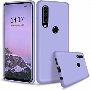 Fanxwu Compatible with Xiaomi Mi 9 SE Case Soft TPU Silicone Cover Solid Color Case Shockproof Anti Slip Scratch Resistant Protection Case- Purple