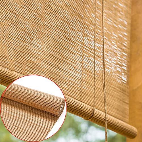 Persianas de Bambu Gazebo de Cubierta Montaje Exterior Persianas Enrollables, Sombra Enrollable de Filtrado de Luz de Oficina, Instalación En Techo o Pared (Color : W×H, Size : 100×180cm)