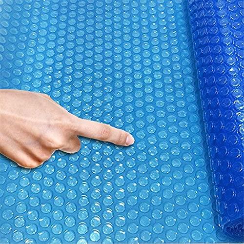 Lona alquitranada Cubiertas Solares Rectangulares para Piscinas, Manta Calefactora de Piscina sobre el Suelo con Burbujas Azules de 100/200/300/400/500cm de Ancho, a Prueba de Polvo Anti-evaporación