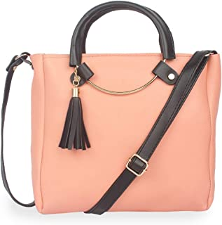 Generic Women's Faux Synthetic Leather Sling Bag (Peach)-PID29336