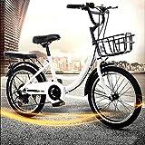 Bicicleta infantil unisex de 20 pulgadas con ruedas, regalo adecuado para niños (blanco)