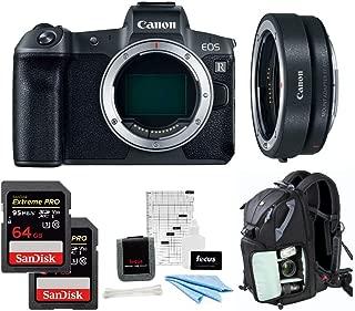 Canon EOS R Mirrorless Digital Camera Body w/Canon Mount Adapter EF-EOS R & 128GB SD Card Advanced Photo & Travel Bundle