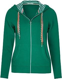 grüne sweatshirt jacke damen