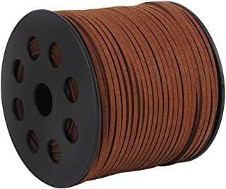 GoFriend® 100 Yards Suede Cord Lace Faux Leather Cord Jewelry Making Beading Craft Thread String--3mm Width(Coffee 1 roll)
